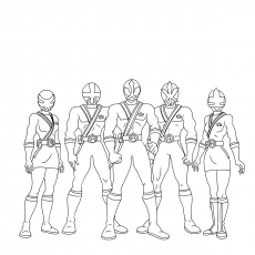 Power Rangers Megaforce Gang