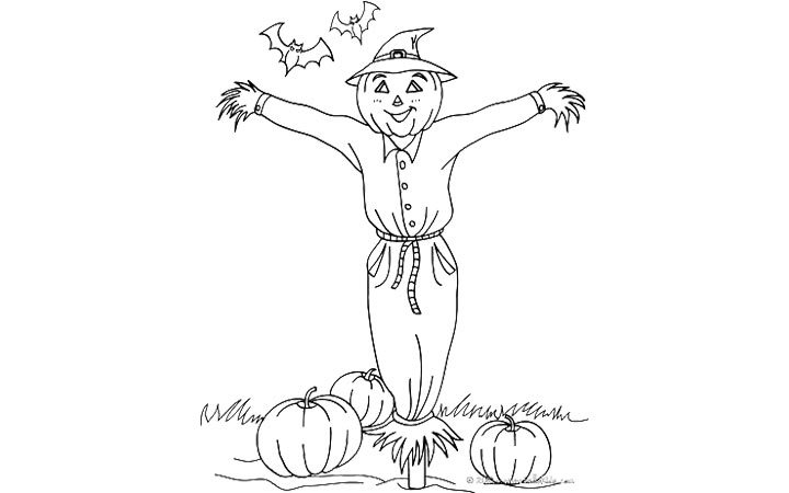 pumpkin patch coloring pages - photo#27