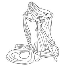 Rapunzel Combing Her Hair 16
