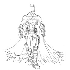 Coloring Pages Of Raskraska Batman