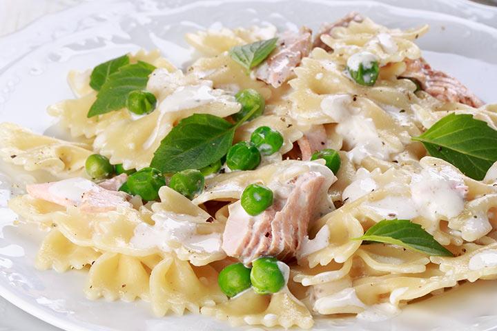 Salmon Pasta With Peas