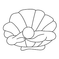 Shell-With-Parls-16 coloring images