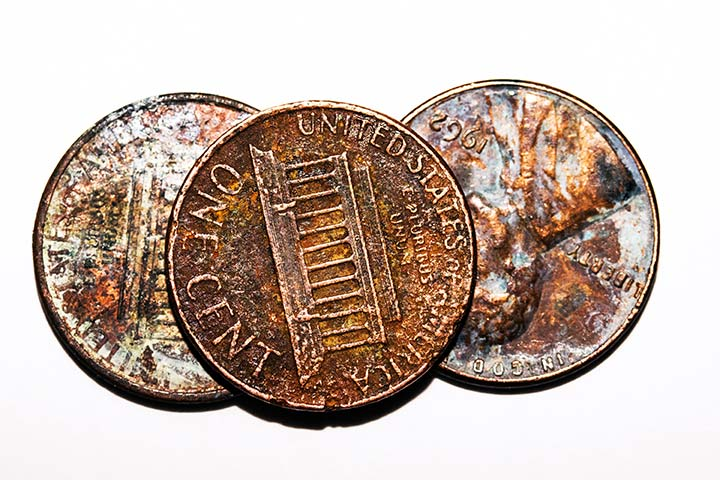 Shining copper coins