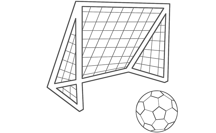 goals coloring pages - photo#9