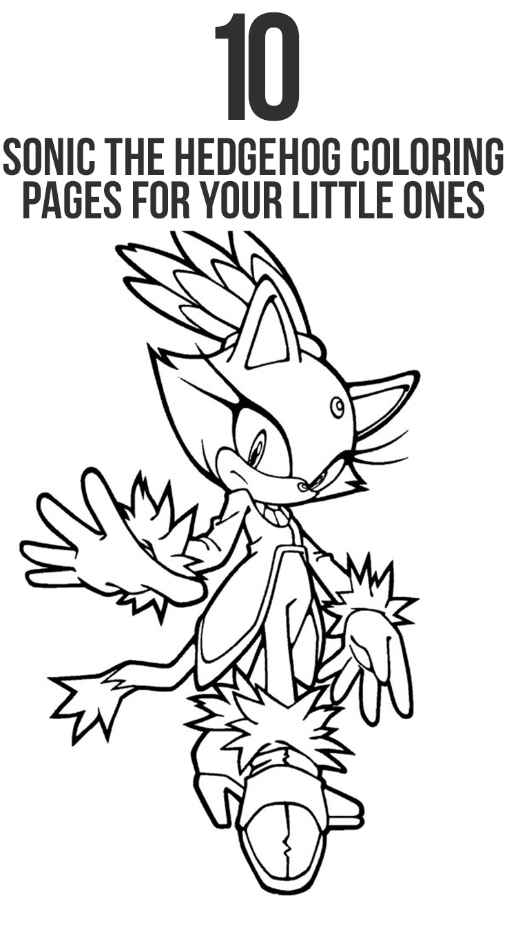 Free coloring pages sonic printable