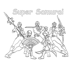 Super Samurai Colouring Pages