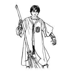 Top 20 Free Printable Harry Potter Coloring Pages Online