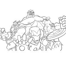 printable coloring page of team avengers - Coloring Pages Incredible Hulk