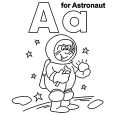 A For Astronaut Coloring Page