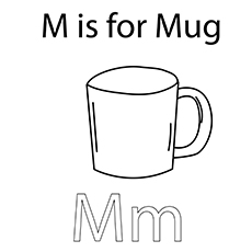 The 'M' Fo Mug coloring