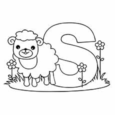 the s for a sheep - S Coloring Pictures