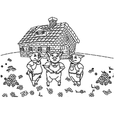The 7D Coloring Page from Three Pigs