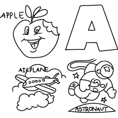 letter a coloring sheet - Letter A Coloring Pages