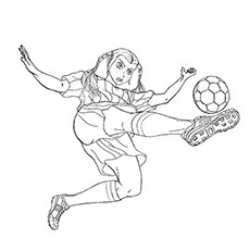 A Massive Kick by a Soccer Player Coloring Pages