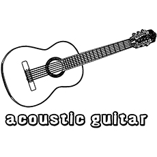 the acoustic guitar - Guitar Coloring Pages