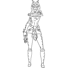 Good Ahsoka Tano Starwar Coloring Pages Printable