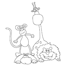 The-An-Assortment-Of-Jungle-Animals-16 for coloring pages