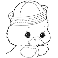 Coloring Pages Of Baby Duck