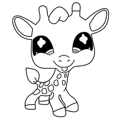Baby Giraffe From Littlest Pet Shop Coloring Pages