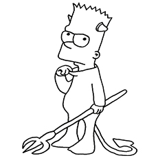 top 10 free printable simpsons coloring pages online - Printable Simpsons Coloring Pages