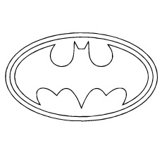 Batman Logo Image For Kids To Color Free