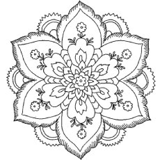 Beautiful Flower Design Free Printable Lotus Petal Abstract Coloring Sheet