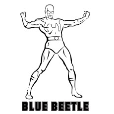 Batman coloring pages 35 free printable for kids for Blue beetle coloring pages