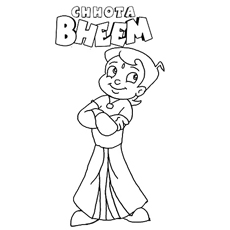 Coloring Sheets Of The Brave Child Warrior Chota Bheem