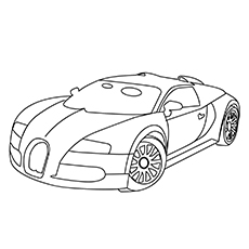 The Bugatti EB110 Car Coloring Images