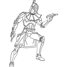 Captain Rex Star Wars Coloring Page to Print