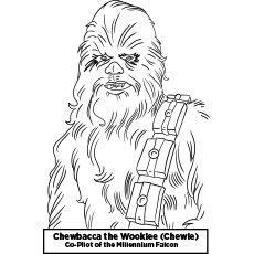 character chewbacca star wars colouring pages - Star Wars Coloring Pages
