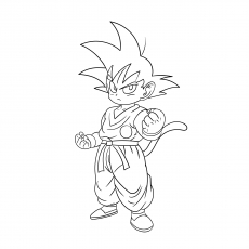 Child Goku Coloring Pages Of Dragon Ball Z