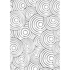 printable of concentric circle pattern coloring page
