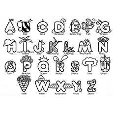 Cool Alphabets Picture To Color