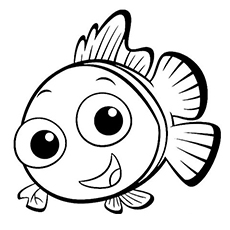 coral nemo mother coloring page
