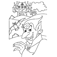 Count Dracula In Transylvania Coloring Pages