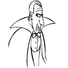 Vampire Count Dracula Coloring Pages