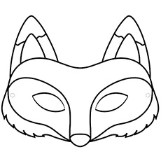 Accomplished image in printable fox mask