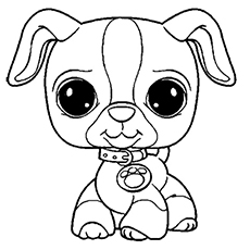 cute puppy from pet shop series coloring pages - Littlest Pet Shop Coloring Page