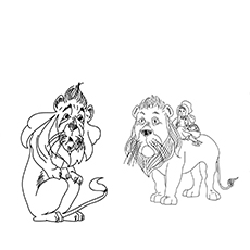 Colorin Image Of Cute Cowardly Lion