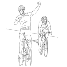 Coloring Page of Cycling Sport