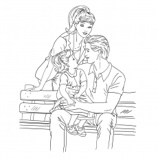 The Daddys Darling Coloring