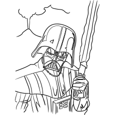 Free Printable Coloring Pages of Darth Vader Character is also known Anakin Skywalker of Star Wars