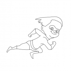 The Dash Parr Running At Top Speed Coloring Pages