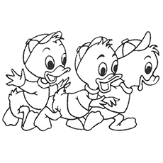 duck tales duck enjoying the rain coloring pages