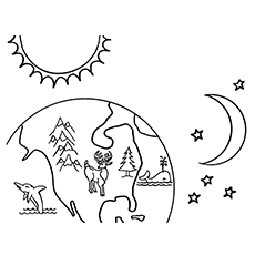 Earth Supports Life Coloring Page