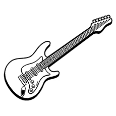 the electric guitar - Guitar Coloring Pages