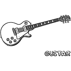 the electro acoustic guitar - Guitar Coloring Pages