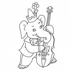 The Elephant Playing Cello