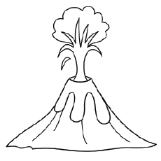 volcano printable coloring pages - photo#3